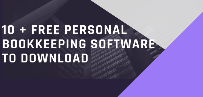 10 + Free Personal Bookkeeping Software To Download