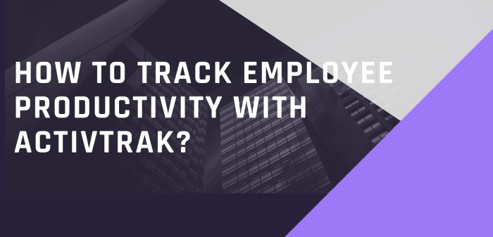 How To Track Employee Productivity With ActivTrak?